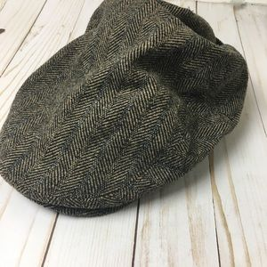 J. Crew Newsboy Brown Pattern Hat